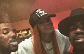 Бывшая жена Notorious B.I.G. записывается на студии вместе с The Game. Фото со студии и другие подробности…