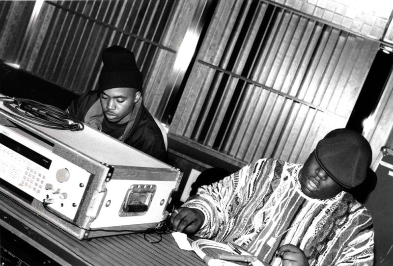 Nas+and+Biggie+at+the+Hit+Factory+Studios,+NYC+1995++by+Delphine+Fawundu+