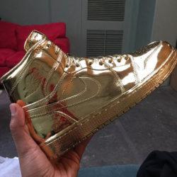 Ludacris похвастался новыми золотыми лимитированными кроссовками Air Jordan 1