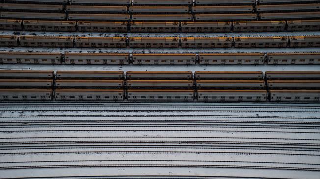 New-York-City-Train-Yard-Winter