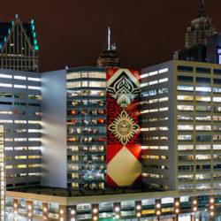 OBEY открывает выставку в Детроите, параллельно украшая город своими громадными художественными работами