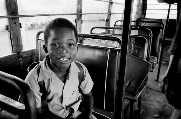 bus kid close