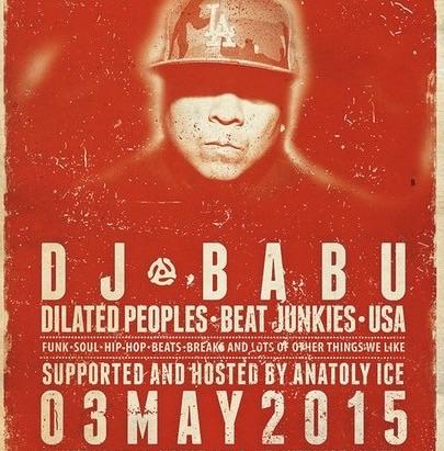 Dj Babu(Dilated Peoples, Beat Junkies) выступит в Москве в это воскресенье, 3 мая