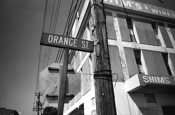 orange st sign