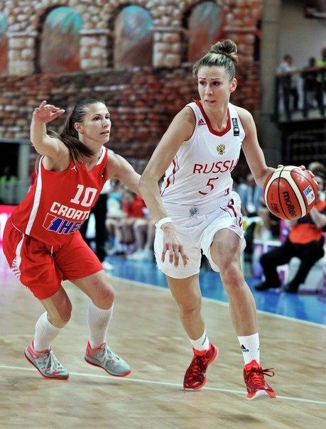 Сборная Россия стартовала с победы на женском Евробаскете