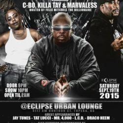 Фотоотчёт концерта Killa Tay, Marvaless и C-Bo в Topeka, KC (19.09.2015)