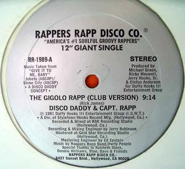01. Disco Daddy & Capt. Rapp — «The Gigolo Rapp» (1981)