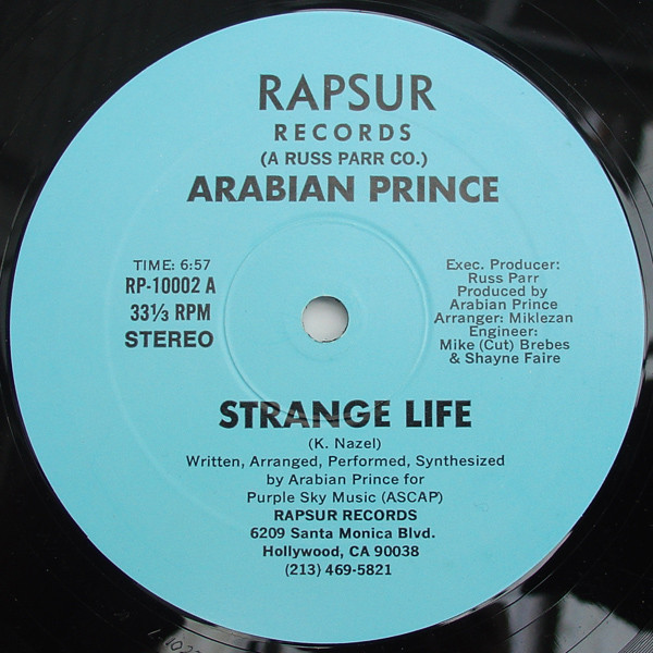 08. Arabian Prince — «Strange Life» (1984)