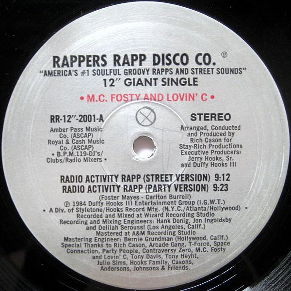 07. M.C. Fosty and Lovin' C — «Radio Activity Rapp» (1984)