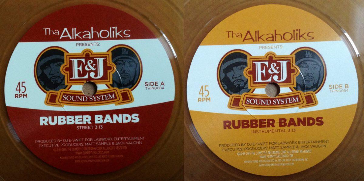 Tha Alkaholiks выпустили на виниле новый стилизованный под пивас сингл «Rubber Bands»