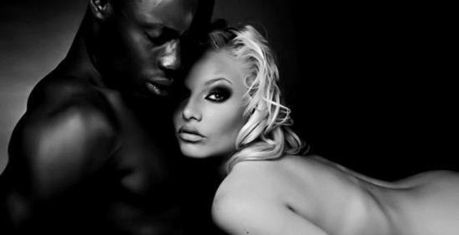 Негар и белокожая блондинка