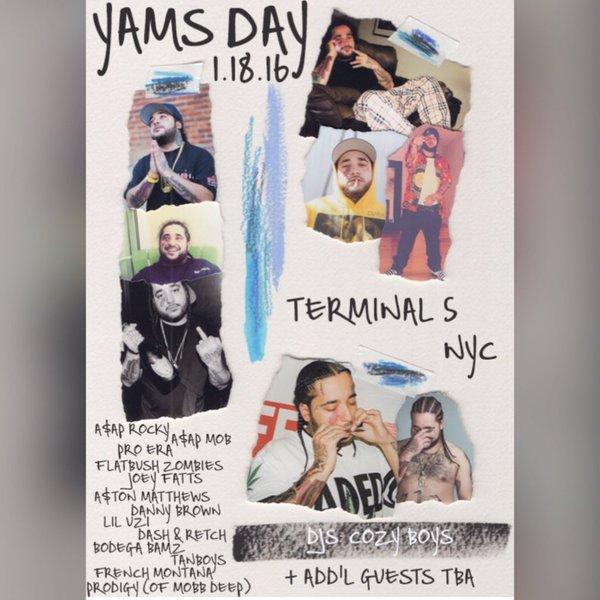 A$AP Mob, Action Bronson, Pro Era и Flatbush Zombies на концерте памяти A$AP Yams. Смотрим видео с выступлений