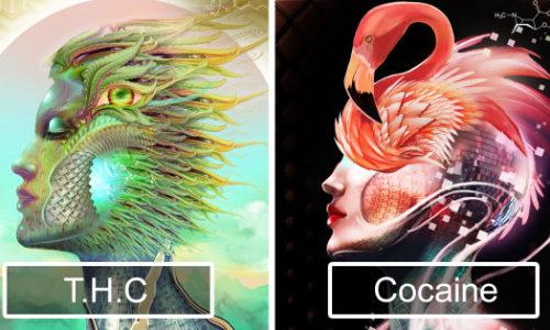 Художник создал иллюстрации эффектов от 20 различных наркотиков