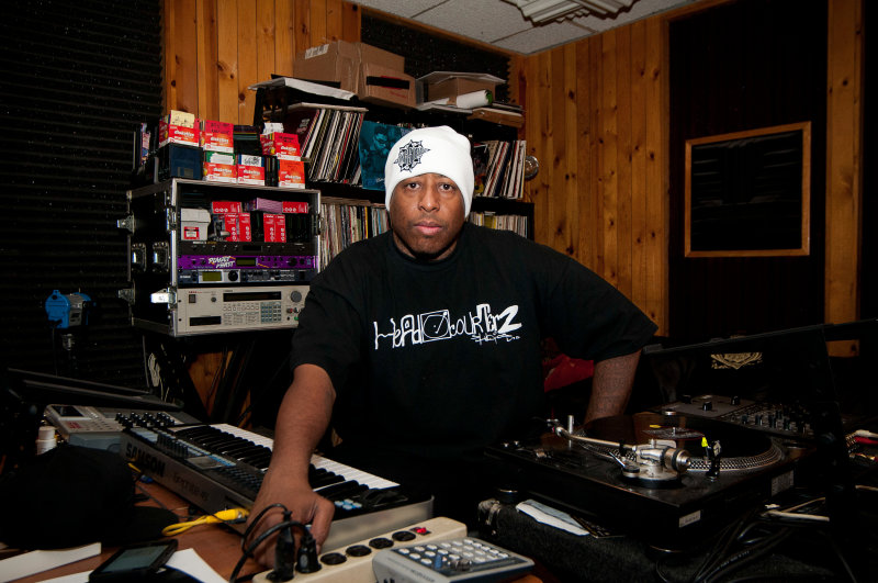DJ Premier at D & D Recording Studios. D & D Studios will be relocating from Manhattan to Queens in 2015.