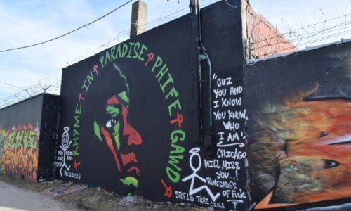 Граффитчики с Logan Square сделали граффити в дань уважения памяти Phife Dawg