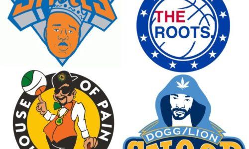 Логотипы команд NBA переделали в лого рэп-исполнителей