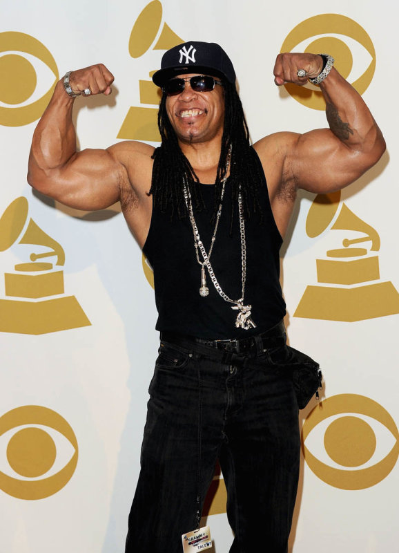 LOS ANGELES, CA - NOVEMBER 30: Rapper Melle Mel poses in media room at The GRAMMY Nominations Concert Live! Countdown to Music's Biggest Night at Nokia Theatre L.A. Live on November 30, 2011 in Los Angeles, California. (Photo by Jason Merritt/Getty Images)