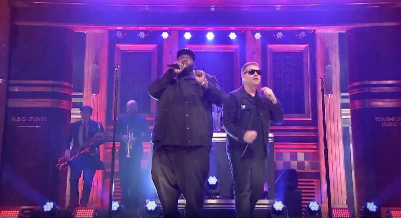 DJ Shadow и Run the Jewels выступили на шоу Jimmy Fallon