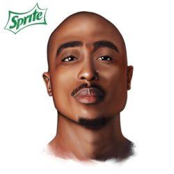 Rakim снялся в рекламе Sprite, под музыку 2Pac
