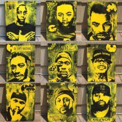 Три художника изобразили Wu-Tang Clan на холстах