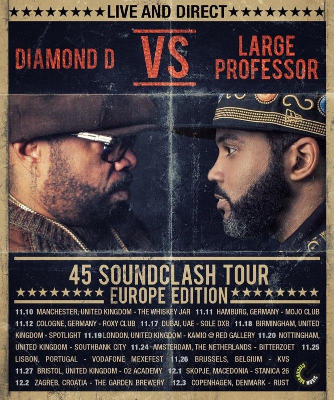Европейское турне Diamond D и Large Professor