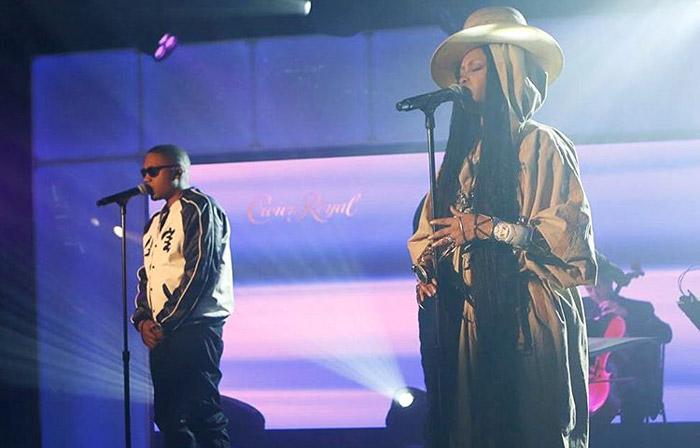 Nas и Erykah Badu выступили на шоу Джимми Киммела