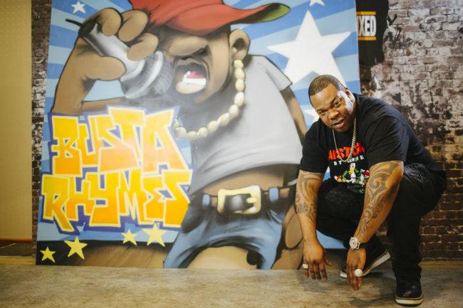 Пресс-конференция с Busta Rhymes перед фестивалем BURN Battle School