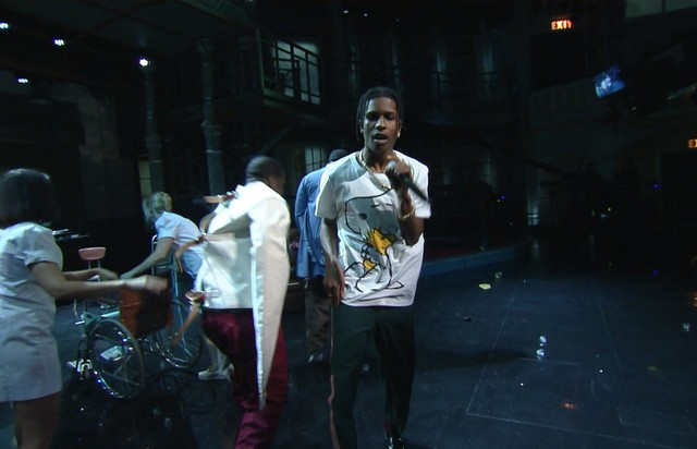 A$AP Mob выступили на шоу Стивена Кольбера