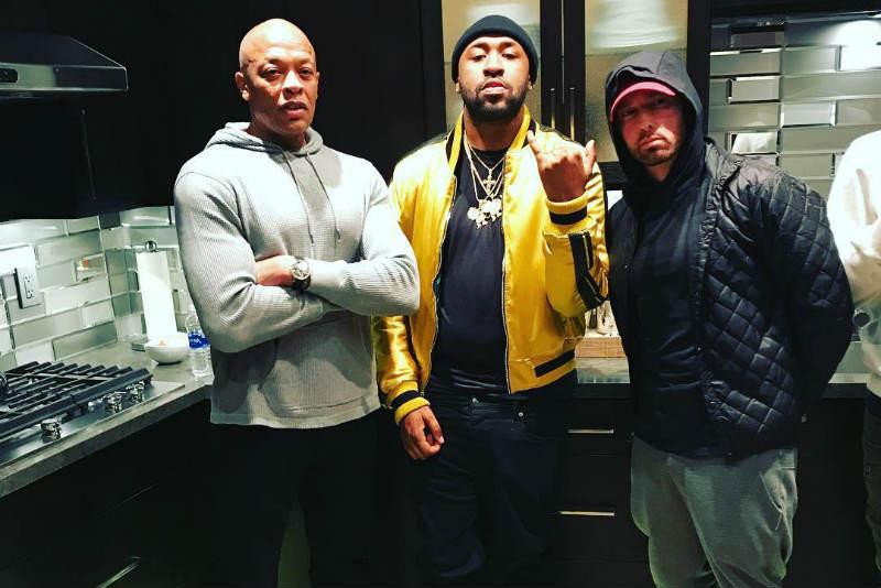 Eminem, Dr. Dre и Mike Will Made-It работают вместе на студии