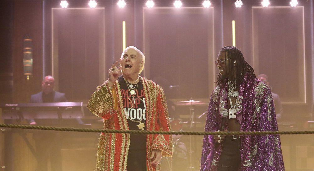 Offset, Metro Boomin и ветеран реслинга Ric Flair выступили на шоу Джимми Фэллона