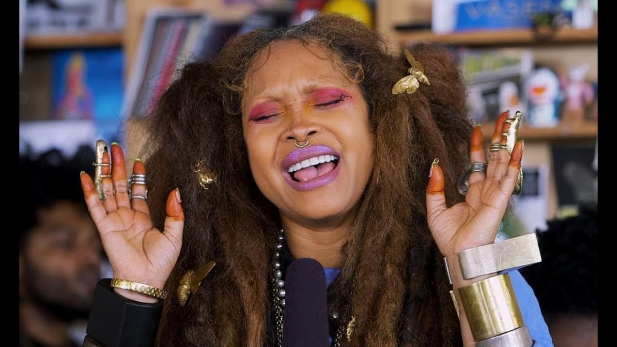 Erykah Badu выступила на канале NPR Music в рамках проекта Tiny Desk Concert