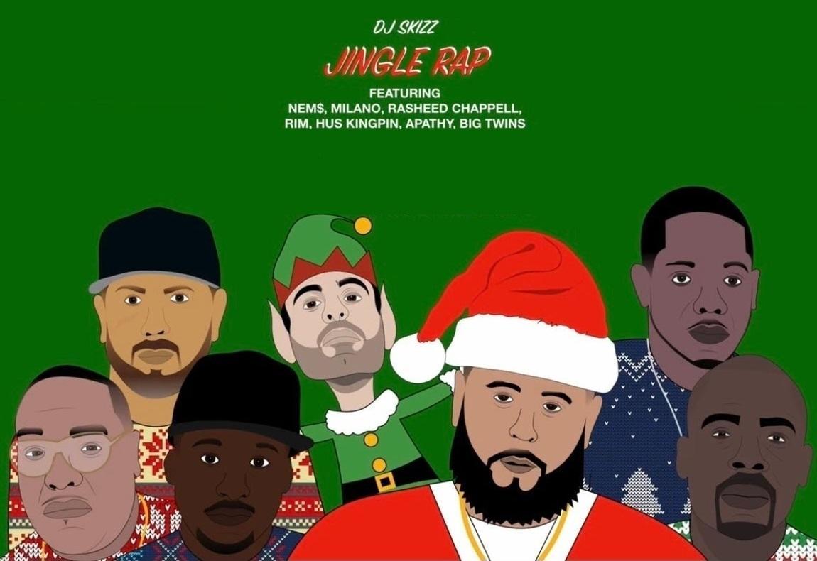 Новогодний «Jingle Rap» от DJ Skizz, Apathy, Nem$, Milano Constantine, Rasheed Chappell, Rim, Hus Kingpin и Big Twins