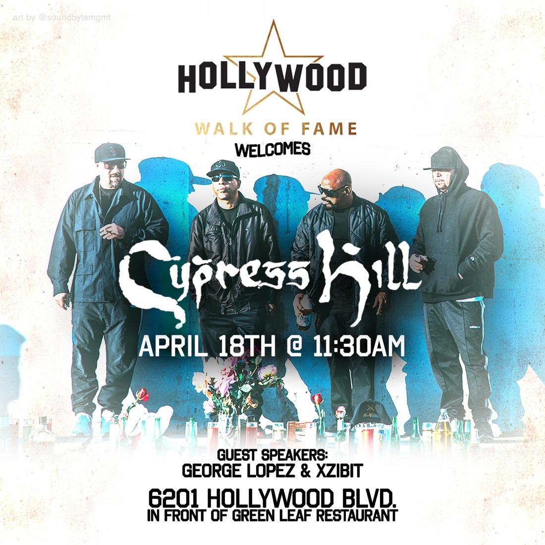 Cypress Hill станет первой латиноамериканской рэп-группой, получившей звезду на Голливудской Аллее Славы