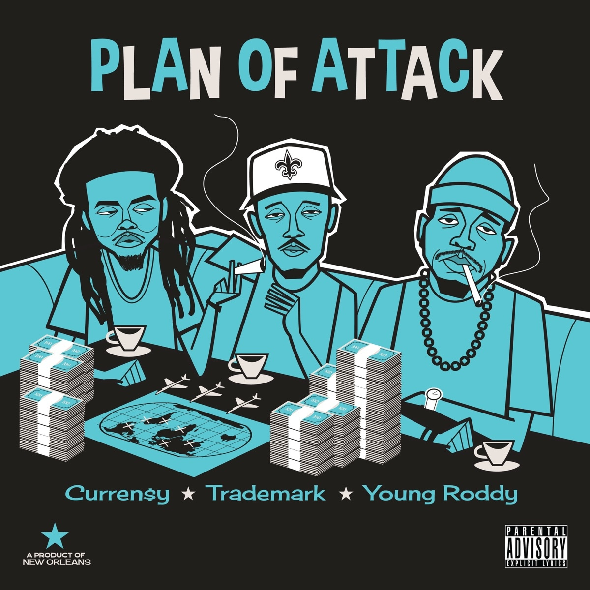 Curren$y, Trademark Da Skydiver & Young Roddy — «Plan Of Attack»
