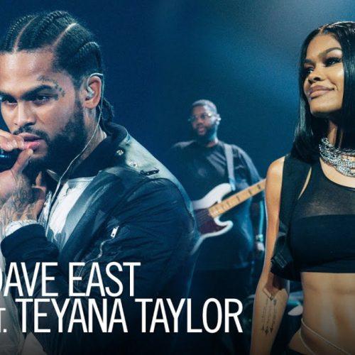 Dave East и Teyana Taylor выступили на шоу Джеймса Кордена