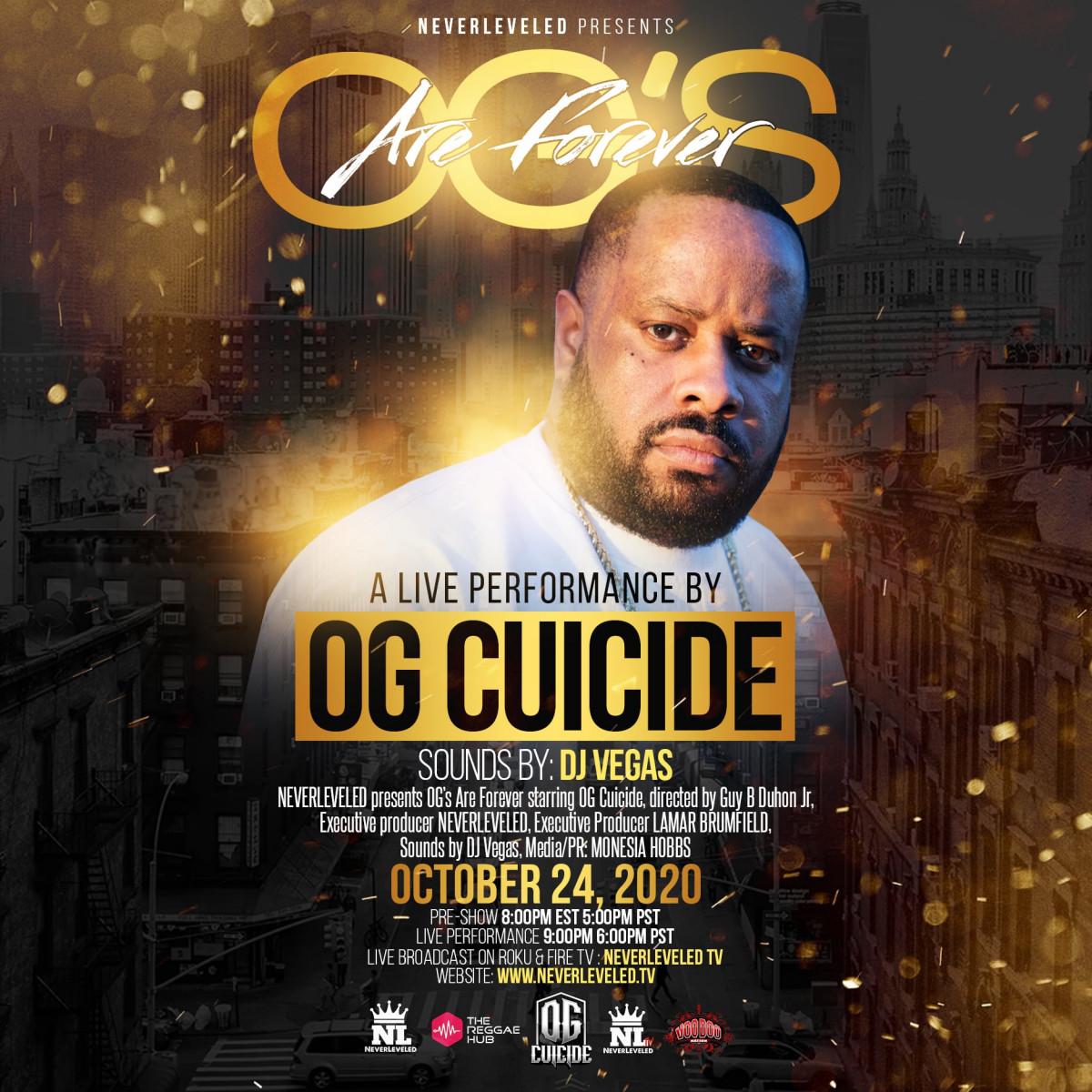 24 октября OG Cuicide даст концерт, трансляцию с которого можно будет посмотреть онлайн!