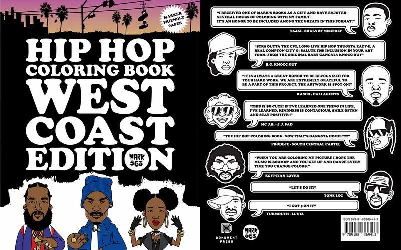 Новая хип-хоп книга-раскраска «Hip Hop Coloring Book: West Coast Edition»