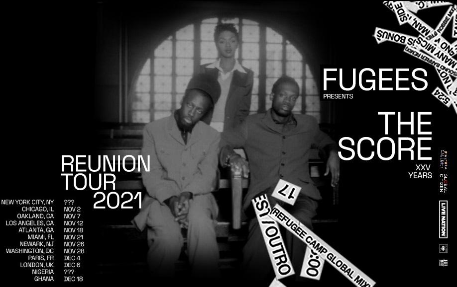 The Fugees воссоединятся для тура, посвященного 25-летию альбома «The Score»